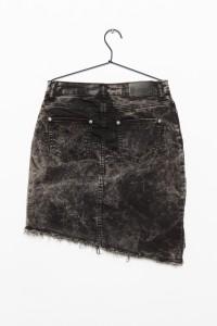 Czarna jeansowa spódniczka PUNK BABE