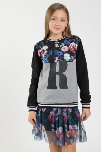 Bluza z długim rękawem dla dziewczyny