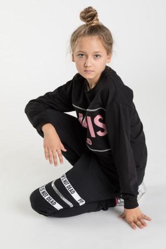 Czarne spodnie dresowe dla dziewczyny