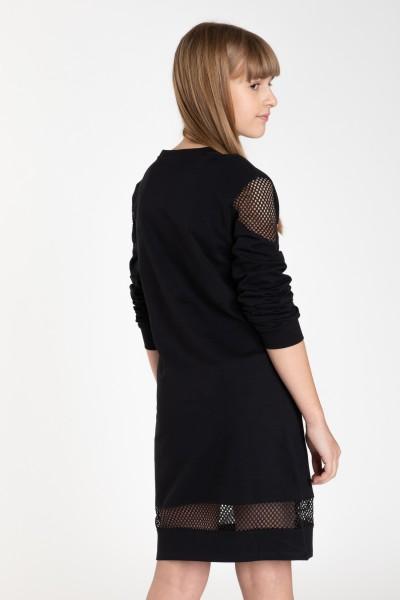 Czarna sukienka z nadrukiem PINK