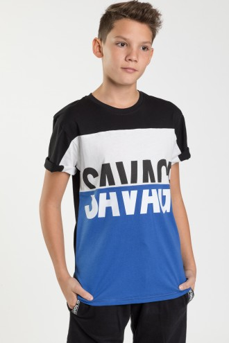 Czarny T-shirt dla chłopaka SAVAGE