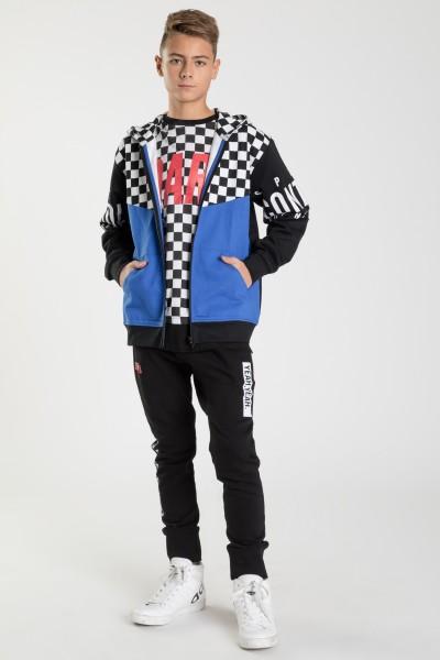 Rozpinana bluza z kapturem dla chłopaka SUPER MOTO