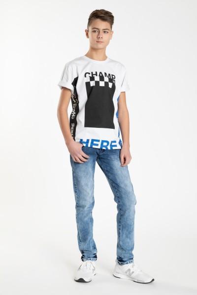 Biały T-shirt dla chłopaka CHAMP