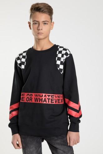 Czarna bluza z długim rękawem dla chłopaka RIDE