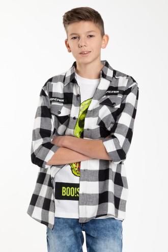 Koszula w czarno-białą kratę dla chłopaka EPIC