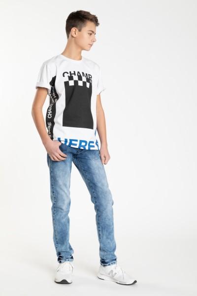 Spodnie jeansowe dla chłopaka LOOSE