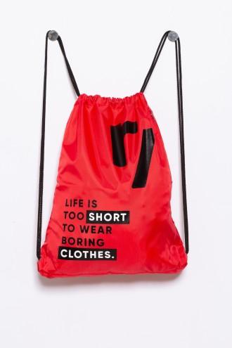 Czerwony plecak-worek dla chłopaka