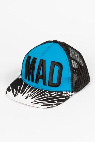 Niebieska czapka z daszkiem dla chłopaka MAD