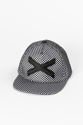 Biało-granatowa czapka z daszkiem dla chłopaka