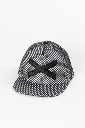 Biało-czarna czapka z daszkiem dla chłopaka