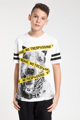 Biały T-shirt dla chłopaka YELLOW REBEL