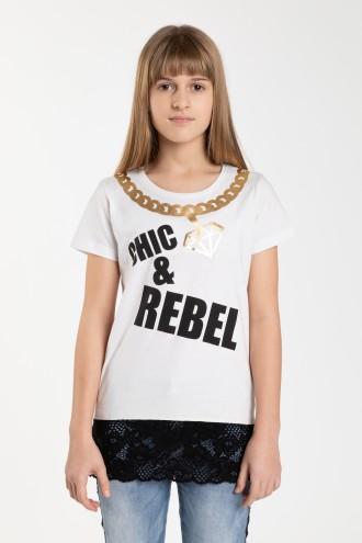 Dziewczęcy T-shirt CHIC & REBEL