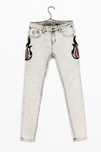 Szare spodnie z ozdobnymi naszyciami dla dziewczyny