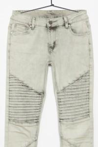Jeansowe spodnie z przeszyciami dla dziewczyny