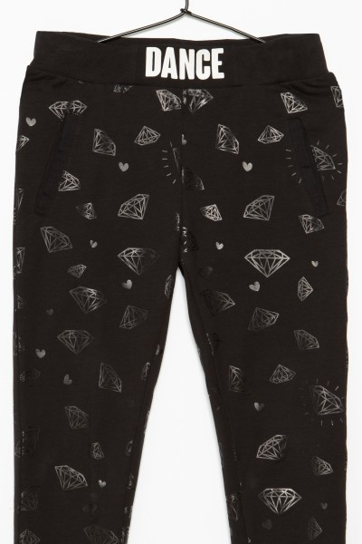 Czarne spodnie dresowe DANCE