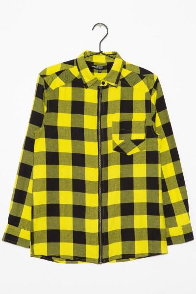 Koszula w żółto-czarną kratę dla chłopaka
