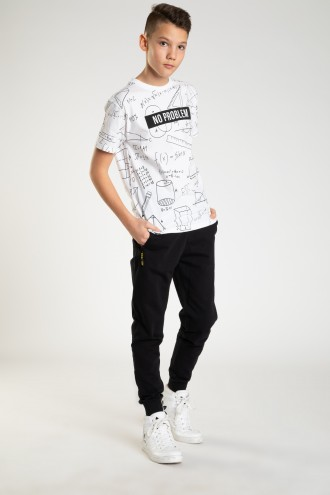 Czarne spodnie dresowe dla chłopaka ARROW