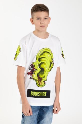 Biały T-shirt z nadrukiem dla chłopaka EAR