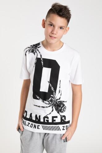 Biały T-shirt dla chłopaka DANGER ZONE