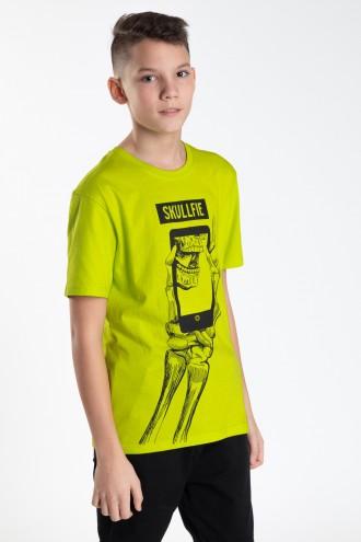 Zielony T-shirt dla chłopaka SKULLFIE