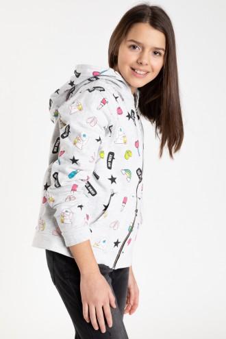 Rozpinana bluza z kapturem dla dziewczyny
