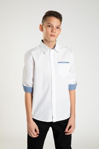 Elegancka koszula z długim rękawem dla chłopaka FIT LOOSE