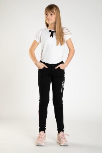Czarne spodnie dla dziewczyny REVOLUTION