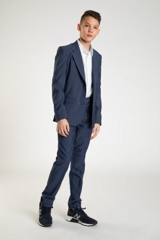 Granatowe eleganckie spodnie dla chłopaka REGULAR