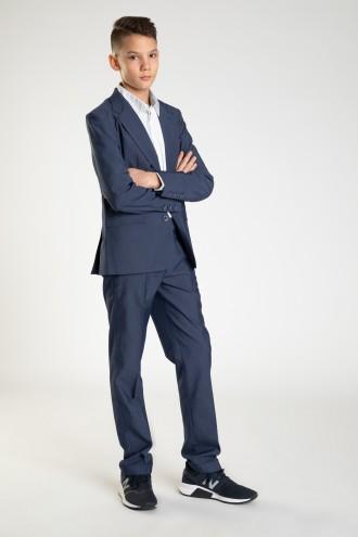 Granatowe eleganckie spodnie dla chłopaka LOOSE
