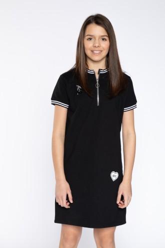 Czarna elagancka sukienka BLACK CHERRY