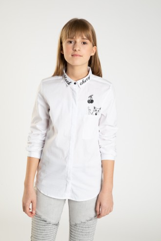 Biała elegancka koszula dla dziewczyny BLACK CHERRY