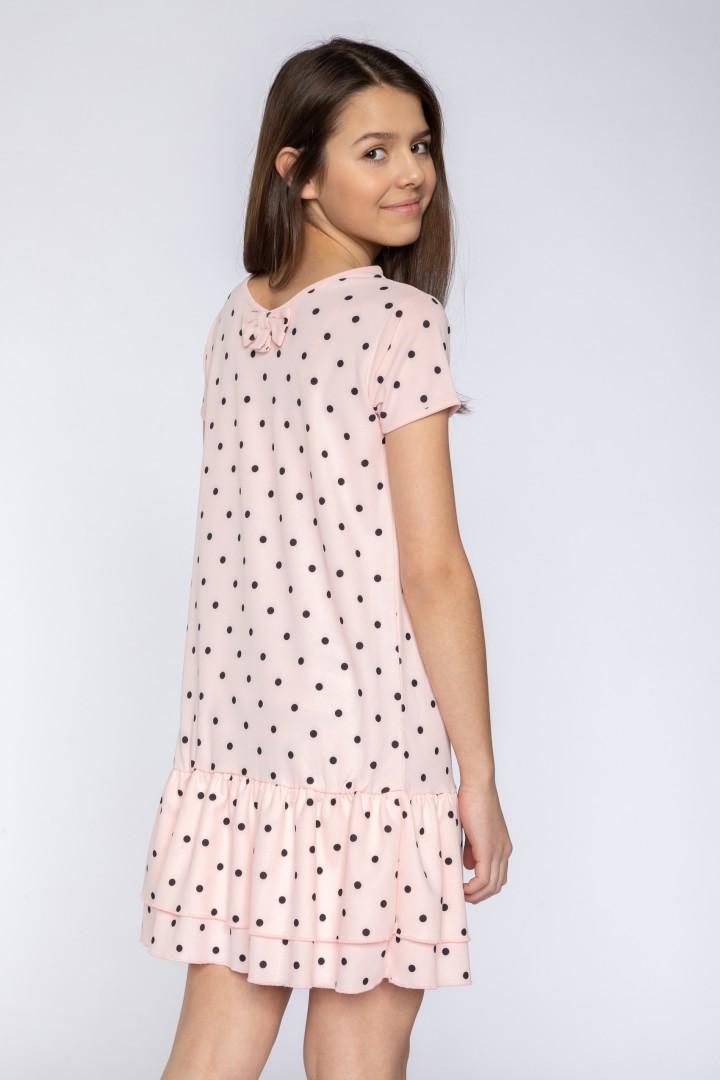 741ffd65a5 Sukienka w kropki z falbaną