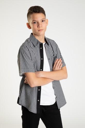 Koszula z krótkim rękawem dla chłopka