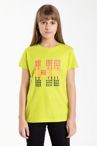 Limonkowy T-shirt dla dziewczyny HI