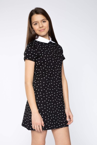 3281bed2ab Elegancka sukienka w kropki BLACK CHERRY
