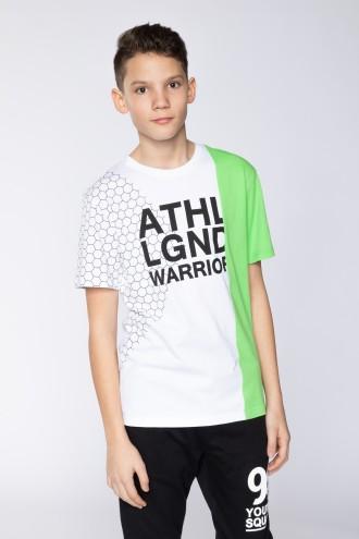 Biały T-shirt dla chłopaka ATHLETE LEGEND