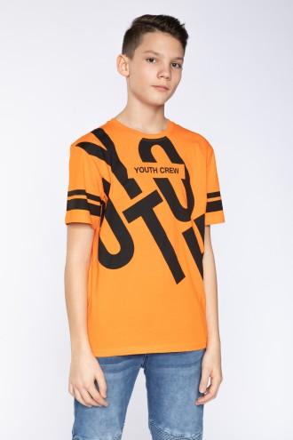 Pomarańczowy T-shirt dla chłopaka YOUTH CREW