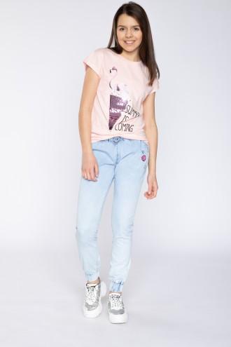 Joggery jeansowe dla dziewczyny