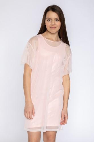Dwuczęściowa rózowa sukienka dla dziewczyny