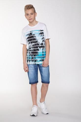 Krótkie spodnie jeansowe dla chłopaka