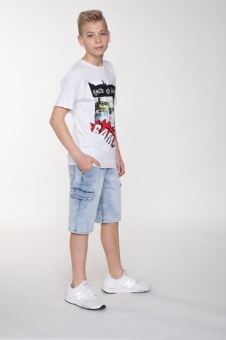 Krótkie jeansowe spodnie z kieszeniami