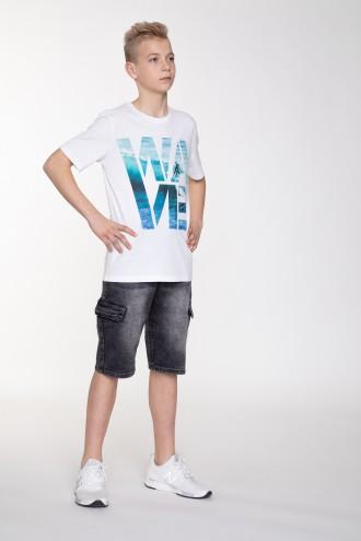 Czarne, jeansowe krótkie spodenki z kieszeniami dla chłopaka