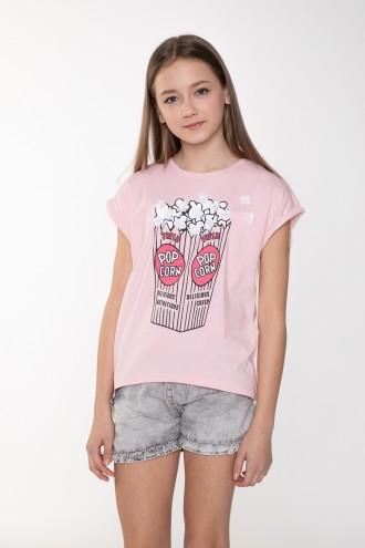 Bladoróżowy T-shirt dla dziewczyny