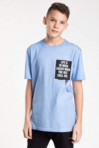 Niebieski T-shirt dla chłopaka CHILL OUT