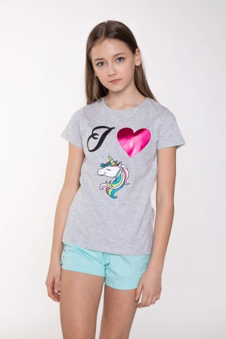 Szary T-shirt UNICORN