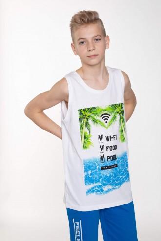 T-Shirt bez rękawów dla chłopaka SUMMER