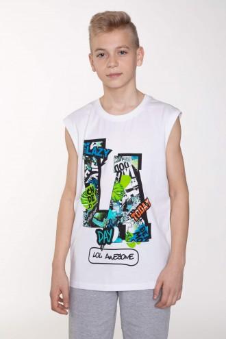 T-shirt bez rękawów dla chłopaka LOL AWSOME