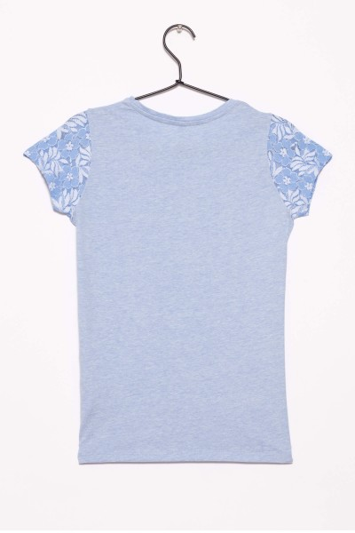 Miętowy T-shirt dla dziewczyny BOSS LADY