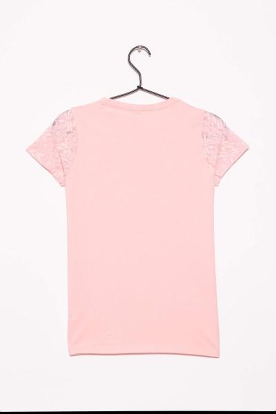 Różowy T-shirt dla dziewczyny BOSS LADY