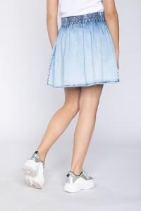 Jeansowa, rozkloszowana spódniczka z zamkiem